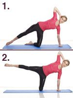 one simple pilates move to tone and shape thighs (particularly saddlebags)