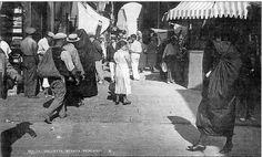 Valletta c 1935. Strada Teatro cw Strada Mercanti