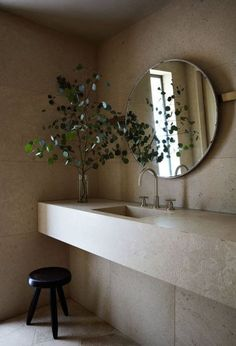 44 Gorgeous Bathroom Mirror Design Ideas 44 Gorgeous Bathroom Mirror Design IdeasYears ago when fashion was not the way of life, the bathrooms came having the option of an over ceil Bathroom Mirror Design, Bathroom Interior Design, Small Bathroom, Bathroom Ideas, Stone Bathroom, Modern Bathroom, Master Bathroom, Bad Inspiration, Bathroom Inspiration