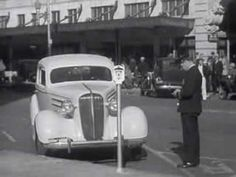 Parking Meters are Newest Thing; 5c for 30min1936 Chevrolet Newsreel: http://youtu.be/c8k1iLLYIuo #parking #history #Chevy