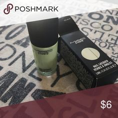 MAC Limited Edition Nailpolish MAC limited edition nail color in 'doll me up' (minty green). Brand new in box MAC Cosmetics Makeup