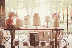 super-sweet wedding cake display // photo by nbarrett photography