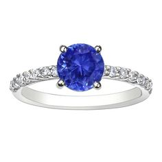 Brilliant Earth sapphire petite shared prong ring $2950