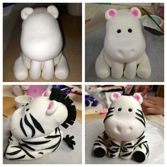 You can use the first white animal (without the eyes) to make animals other than a zebra!