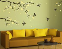 Wall Decals For Nursery Baby Room Designs Tree Branch With Birds - Custom vinyl wall decals nursery