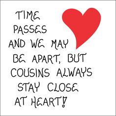 Rerfrigerator Magnet  Cousins, Love For Family