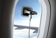 Whether traveling by plane or by train, Ray can power-up gadgets simply by attaching to a window and transforming the Sun's beams into pure electricity. #travel #gadget