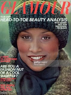 Beverly Johnson wearing Coty makeup, tweed Addanda sweatercoat, and Mary Quant hat. Ebony Magazine Cover, Magazine Covers, 70s Fashion, Vintage Fashion, Fashion Models, Vintage Style, Vintage Hollywood, Hollywood Glamour, 1980s Makeup