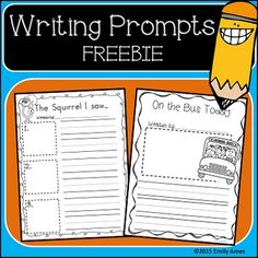 Writing Prompts Freebie Fall, autumn, how to, personal narrative, creative…
