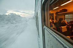 Sweden, train to Obisko, lapland