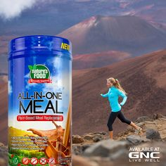 With 34g of vegan protein, energizing carbs, 10g of fiber, omega-3 fats from flax, plus 20 vitamins and minerals, Nature's Food™ All-In-One Meal provides the nutrition of a well-balanced, plant-based meal.