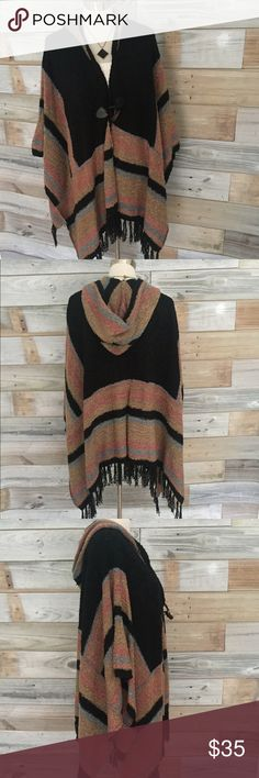 {Xhilaration} NEW Limited Edition Boucle Poncho This is NWOT--never worn and in perfect new condition. It was purchased in Fall of 2016 and I just never got around to showing it off! It was part of limited edition knit line that was released by participating flagship Target stores, and is fairly difficult to find. Several similar boutique versions have gone for over $60! Features nice roomy oversize shape, hood, & wooden toggle front closure. Drapes beautifully, and is nice and cozy--will…