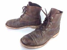 Men's Vintage Florsheim Imperial Brown Leather Side Zipper Ankle ...