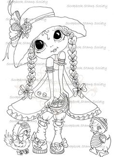 SOFORTIGER DOWNLOAD digitale Digi Stamps Großkopf Dolls Digi IMG657 von Sherri Baldy