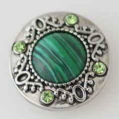 Bouton pression chunk pour bijoux à pression métal carré oeil de chat gris