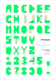 Typogami: A Free Animated Typeface Inspired By Origami