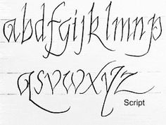 Script Calligraphy: Thin, Graceful and Beautiful