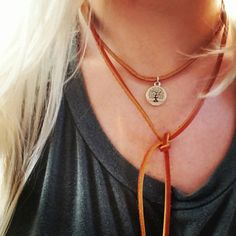 Check out this item in my Etsy shop https://www.etsy.com/listing/493337249/quality-cognac-leather-choker-with-tree