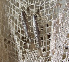 Vintage Sterling Silver Fish Earrings by cynthiasattic on Etsy