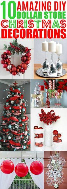 DIY Christmas Decorations Dollar Store, Cheap Christmas Decor Ideas