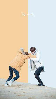 Korean Drama, wallpaper, and kdrama image - Weightlifting Fairy Kim Bok Joo - İmages Joon Hyung Wallpaper, Lee Sung Kyung Wallpaper, Lee Jong Suk Wallpaper Iphone, Korea Wallpaper, Black Wallpaper, 3d Wallpaper, Wallpaper Quotes, Weightlifting Fairy Wallpaper, Weightlifting Fairy Kim Bok Joo Wallpapers