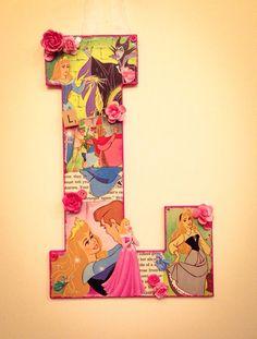 Any Letter Sleeping Beauty Custom made Disney by SpikaInteriors