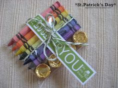 Cute St. Patrick's Day Gifts- cute for student gift... maybe with plastic gold coins for the gold?