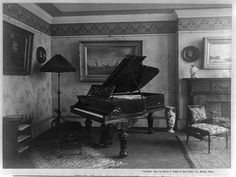 """""""A magnificent piano crowded the apartment.""""    (The Awakening and Selected Short Stories (Kindle Locations 1005-1006). Public Domain Books. Kindle Edition.)"""
