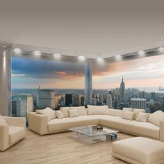 WALL MURALS PHOTO WALLPAPER NON-WOVEN PANORAMIC BIG CORNER NEW YORK VIEW 447VEE