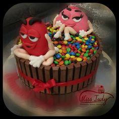 M&MS cake