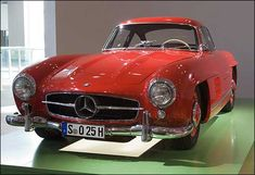 Mercedes-Benz 300 SL Gullwing    Door design makes it slightly easier to get in… but impossible to escape if you are upside down. Nice-looking car, though.
