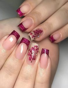 2019 Beautiful Nail Trends Right Now - Fashion Insider Manicure Nail Designs, Acrylic Nail Designs, Nail Art Designs, Manicure Pedicure, Stylish Nails, Trendy Nails, Edgy Nails, Toe Nails, Pink Nails
