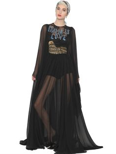 BIANCA BALTI FOR LUISAVIAROMA - DOLCE & GABBANA ITALIA IS LOVE DRESS - BLACK