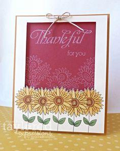 Thankful Card by Regina Mangum #Cardmaking, #Thanksgiving