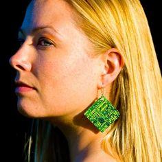 Circuitboard Earrings