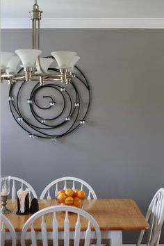 My living room/dining room paint color-Benjamin Moore Fusion