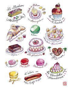 Les gâteaux français  Pâtisseries françaises  par lucileskitchen, $25.00