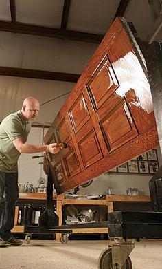 Summit Wood Door Refinishing: Wood Door Repair Wood Door