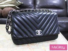 Chanel Chevron Lambskin Bag