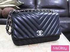 Chanel Chevron Lambskin Bag