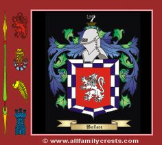 Wallace family crest and meaning of the coat of arms for the surname wallace