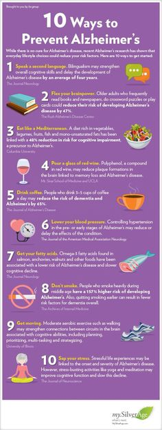 Ten ways to prevent Alzheimer's  //  Tips  //  How to  //  Guide  //  Infographic  //  Health  //  Protect yourself  //  Self Health  //  Disease protection  //  #SeanPStone @FormulaSean