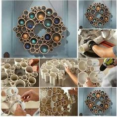 Hechas con tubos de carton