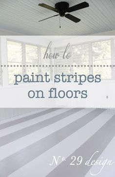 Painted floor Stripes - How to Paint Stripes on Floors .