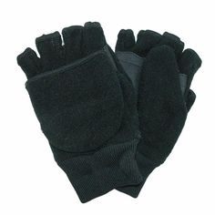Whether waiting for the bus, going to school, playing outside or running errands with you - the kid in your life will need to keep warm in the cold of winter. Created from warm fleece, with Thinsulate insulation these Fingerless Mittens will keep his/her hands protected and warm. These have the warmth of mittens when necessary with the option to reveal the fingerless glove for certain tasks such as tying a shoe.