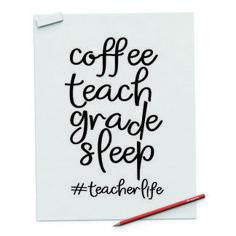 Teacher Page, Resume Templates, Social Media, Teaching, Digital, Coffee, Repeat, Sleep, Printables