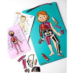 With seventy-six pieces, your child will learn all the layers of the human body, skeleton, muscle, organs, and skin!
