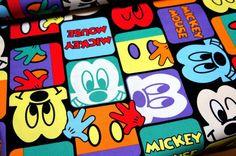 Disney Cartoon Mickey Print Japanese fabric by beautifulwork, $7.50
