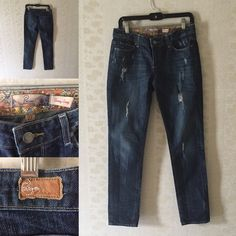 Paige premium denim Worn once. This is like a skinny boyfriend fit with lots of distressed details. Super cute with ankle boots or wedges. Perfect denim for the summer Paige Jeans Jeans Ankle & Cropped