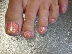 glitter toe nail designs - Google Search